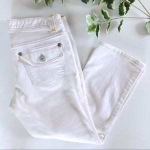 Banana Republic Crop Jeans 10 Stretch White Denim